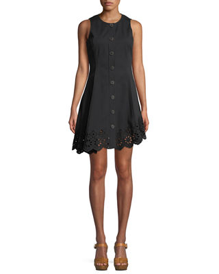 Derek Lam 10 Crosby Sleeveless Button-Down Cotton Dress