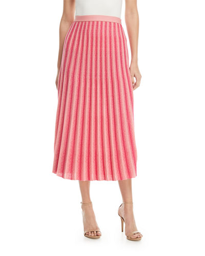 Derek Lam 10 Crosby A-Line Pleated Striped Knit