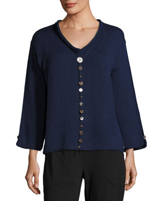 Iris Pullover Top with Buttons
