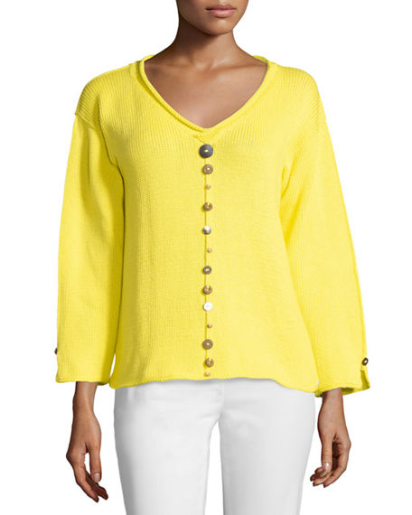 Neon Buddha IRIS PULLOVER TOP WITH BUTTONS