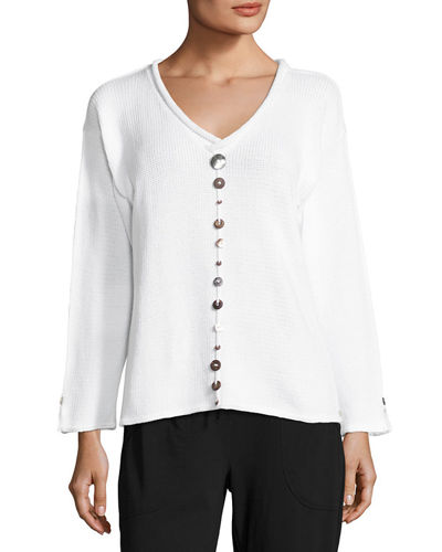 Iris Pullover Top with Buttons, Plus Size