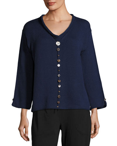 Plus Size Iris Pullover Top with Buttons