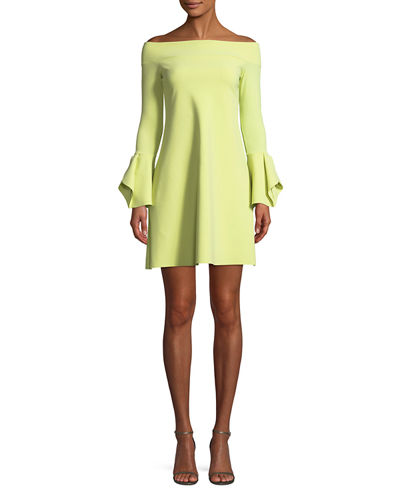 Berit Off-the-Shoulder Mini Cocktail Dress