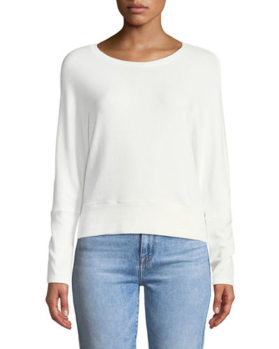 Charles Crewneck Long-Sleeve Knit Top