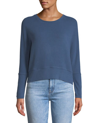 Cupcakes and Cashmere Charles Crewneck Long-Sleeve Knit Top