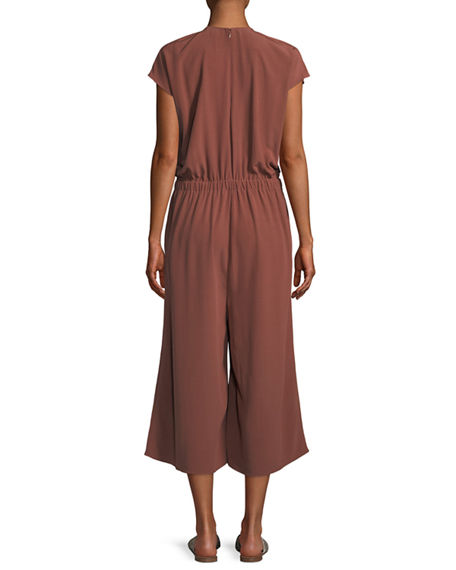 Image 3 of 3: Eileen Fisher Plus Size Crepe Cropped Jumpsuit