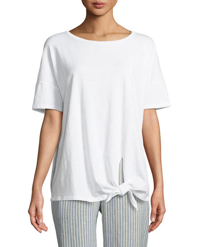 Eileen Fisher Tie-Front Slub Tee and Matching Items