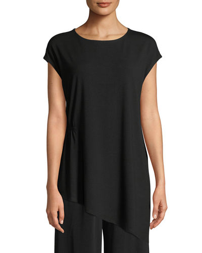 Eileen Fisher Jewel-Neck Viscose-Jersey Top and Matching Items