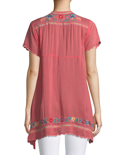 Mikones Embroidered Tunic, Plus Size