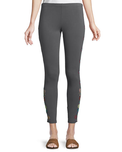 Voltage Embroidered Leggings, Plus Size