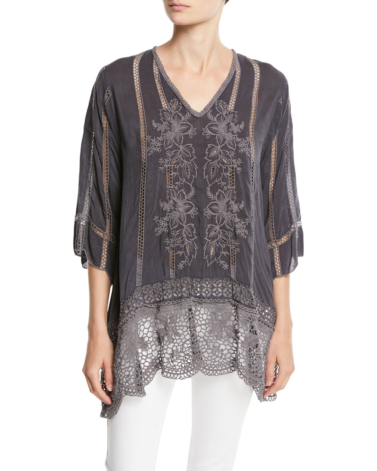 Elle Crochet-Trim Tunic