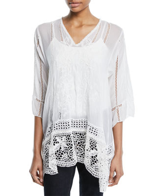 Johnny Was Elle Crochet-Trim Tunic and Matching Items