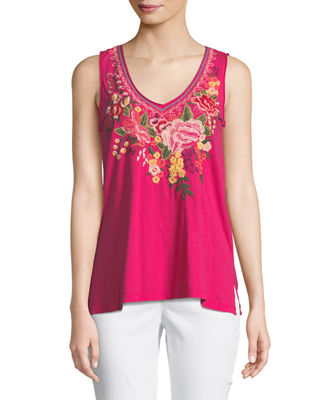 Johnny Was Adeline Sleeveless V-Neck Tank
