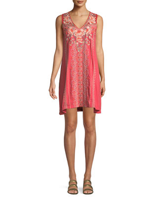 Calida Sleeveless Embroidered Tank Tunic, Plus Size