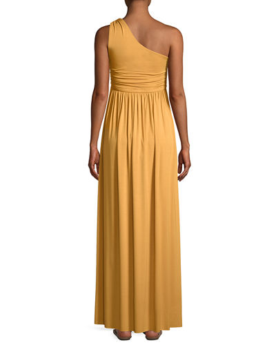 Kaitlynn One-Shoulder Long Dress, Plus Size