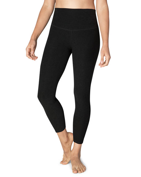 Beyond Yoga Pants CAUGHT IN THE MIDI HIGH-WAIST SPACE-DYE LEGGINGS