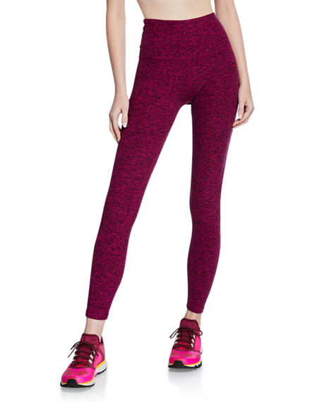 Image 1 of 2: Beyond Yoga Caught in the Midi High-Waist Space-Dye Leggings