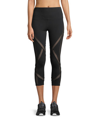 Alo Yoga Laced High-Waist Capri Leggings