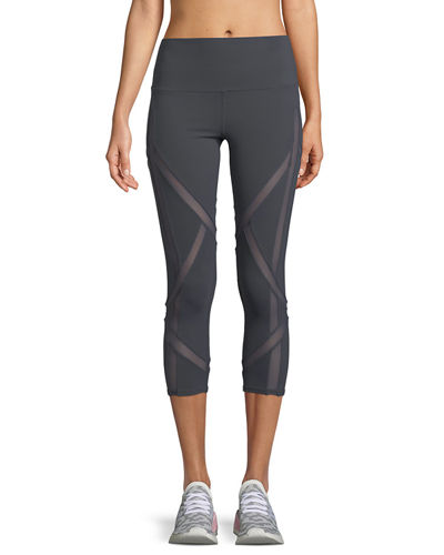 Laced High-Waist Capri Leggings