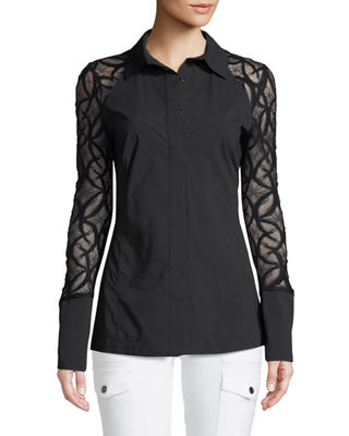 Anatomie Raina Lace-Sleeve Shirt