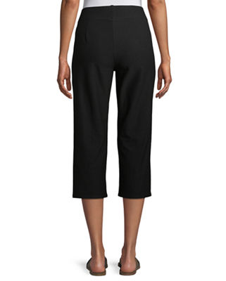Image 3 of 4: Slim Crepe Capri Pants