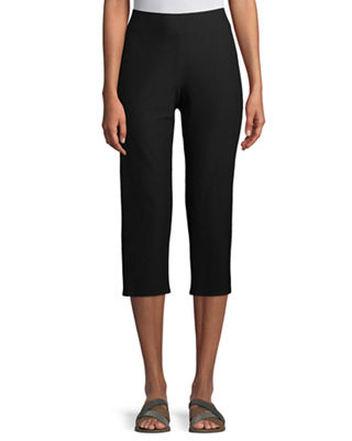Image 1 of 4: Slim Crepe Capri Pants