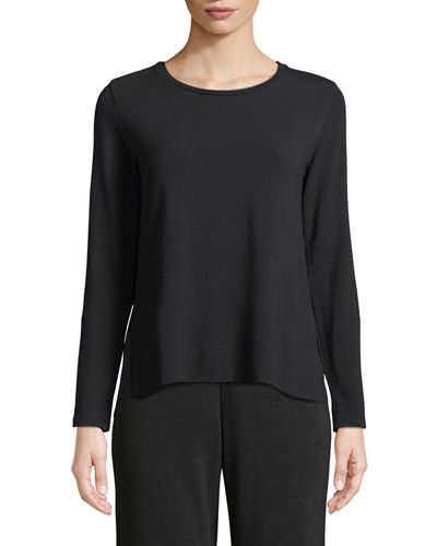 French Terry Side-Slit Sweatshirt