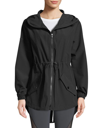 Ophilie Hooded Zip-Front Anorak Jacket