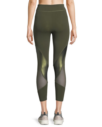 Amelie Cropped Leggings w/ Mesh Panels