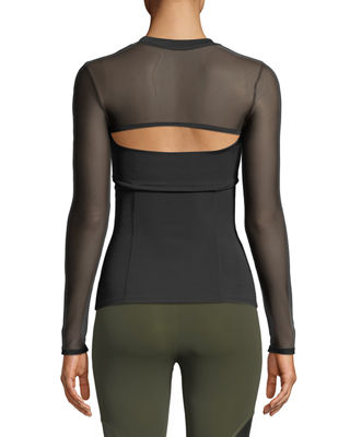 Image 2 of 2: Dominique Cutout-Front Neoprene Top