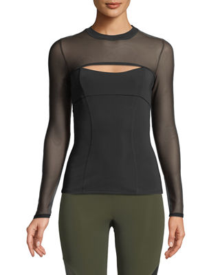 Cushnie Et Ochs Dominique Cutout-Front Neoprene Top