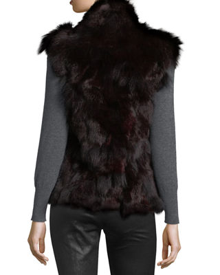 Image 2 of 3: Fur Open-Front Vest