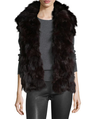 Image 1 of 3: Fur Open-Front Vest
