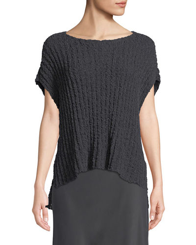 Eileen Fisher Rail-Knit Short-Sleeve Sweater and Matching Items