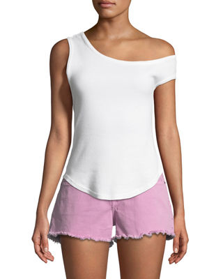 One-Sleeve Cotton Tank