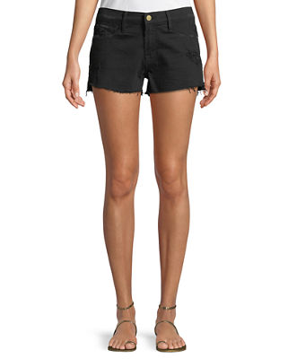 FRAME Le Cut Off Tulip-Hem Denim Shorts