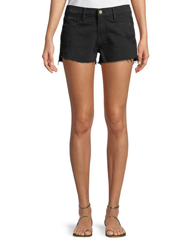 Le Cut Off Tulip-Hem Denim Shorts