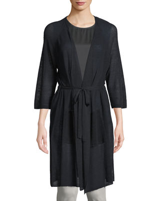 Eileen Fisher Linen-Blend Belted Cardigan and Matching Items