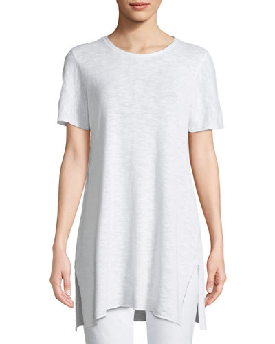 Eileen Fisher Heathered Linen-Blend Long Tunic and Matching