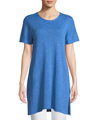 Eileen Fisher Heathered Linen-Blend Long Tunic