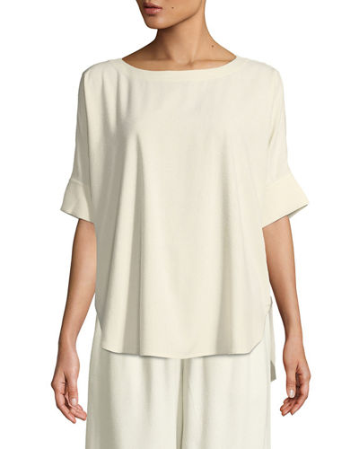 Eileen Fisher Bateau-Neck Linen Top and Matching Items
