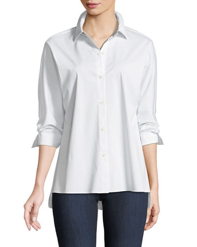 Felicity Italian Stretch-Cotton Blouse