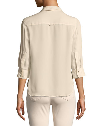 Ryan 3/4-Sleeve Silk Blouse