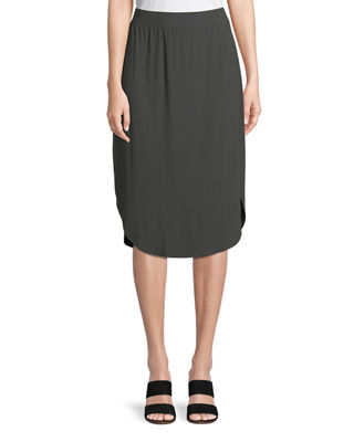 Viscose Jersey Slim Pull-On Skirt, Petite