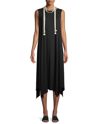 Eileen Fisher Sleeveless Jersey Handkerchief Dress