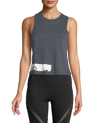 Image 1 of 2: Flow Graphic Racerback Lightweight Tank