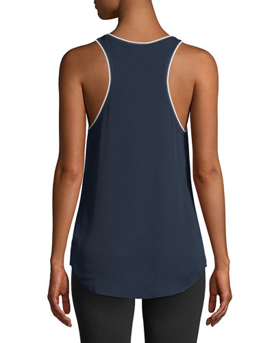 Silk Combo Racer Top
