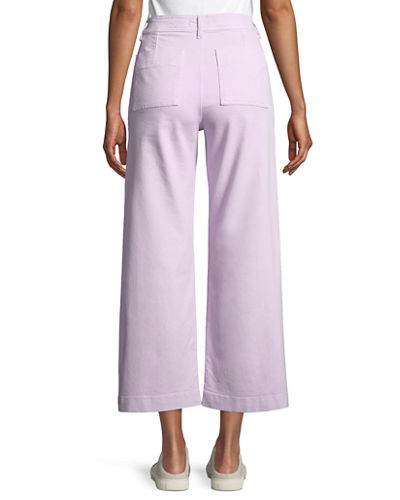 Caron High-Rise Cropped Wide Leg Pants