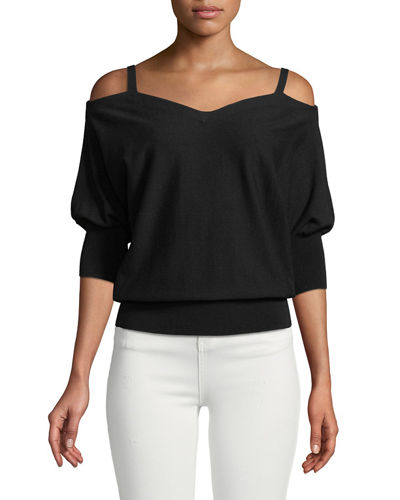 Drama Dolman-Sleeve Sweater