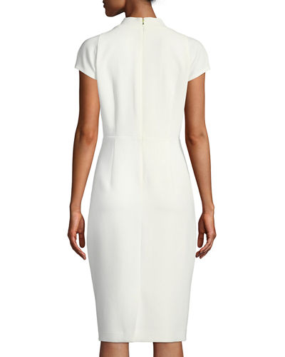Gerarda Stretch-Crepe Sheath Dress